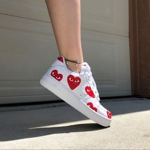LinestelleCustoms Air Force 1s CDG